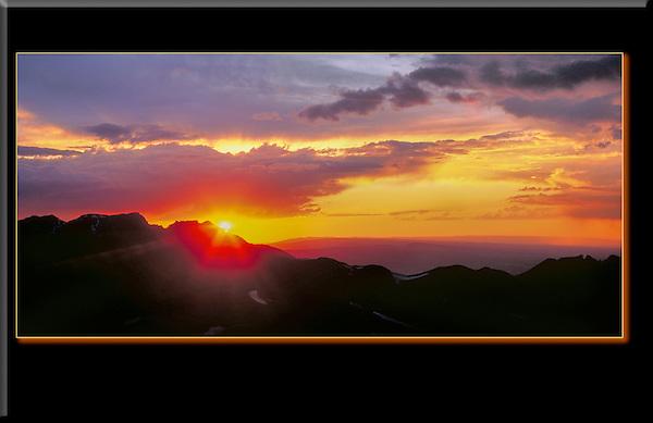 Sunset from Engineer Pass, San Juan Mountains, Colorado.