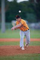 Logan Whitfield (70) during the WWBA World Championship at Terry Park on October 11, 2020 in Fort Myers, Florida.  Logan Whitfield, a resident of Whitehouse, Texas who attends Whitehouse High School, is committed to Texas Tech.  (Mike Janes/Four Seam Images)
