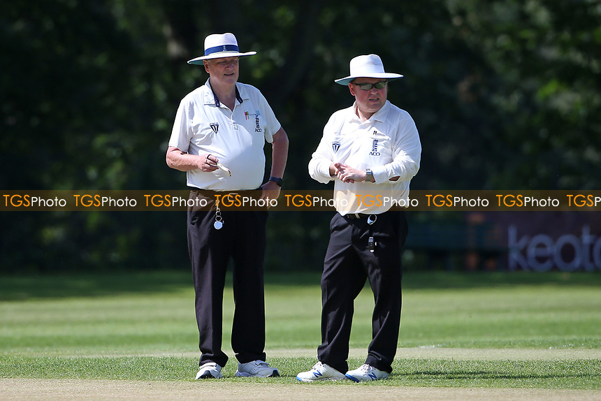 The umpires during Wanstead and Snaresbrook CC vs Harold Wood CC, Hamro Foundation Essex League Cricket at Overton Drive on 17th July 2021