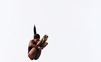 BARRANQUILLA - COLOMBIA, 22-07-2018: Competidora Miryeliz Fernandez de Cuba , modalidad 10m plataforma.Juegos Centroamericanos y del Caribe Barranquilla 2018. /Competitor  Miryeliz Fernandez of Cuba, 10m platform platform of the Central American and Caribbean Sports Games Barranquilla 2018. Photo: VizzorImage /  Contribuidor