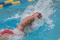 BERKELEY, CA - Nov. 10, 2017: Johannes Calloni swims the Men 1000 Yard Freestyle. Stanford vs. California triple distance meet.  Stanford Men's Swimming competed against UC Berkeley at Spieker Aquatics Complex.