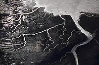 Europe/France/Normandie/Basse-Normandie/50/Manche/Mont Saint-Michel: Prés salés et bras de mer à marée basse