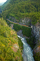 Alaska Railroad passing through the tunnels...July 13, 2004 Porcaro / Alaska Railroad assignment