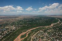 aerial photograph of the Rio Grande at Albuquerque, New Mexico