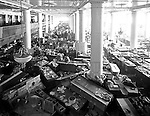 Pittsburgh PA: View of the first floor of the Joseph Horne Company Store after the flood.  On March 16, 1936, warmer-than-normal temperatures led to the melting of snow and ice on the upper Allegheny and Monongahela rivers. Heavy rains overnight caused the waters to rise quickly and the water peaked at about 46 feet, 21 feet above flood stage.