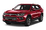2020 Ssangyong Korando Onyx 5 Door SUV Angular Front automotive stock photos of front three quarter view