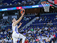 13th October 2021; Wizink Center; Madrid, Spain; Turkish Airlines Euroleague Basketball; game 3; Real Madrid versus AS Monaco; Thomas Heurtel (Real Madrid Baloncesto) lays up at the net