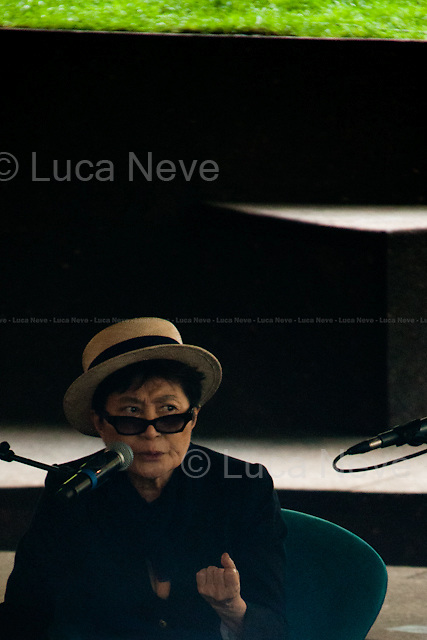 """Yoko Ono.<br /> <br /> For more pictures on this event click here: <a href=""""http://bit.ly/Tr7Mg5""""> http://bit.ly/Tr7Mg5</a>"""