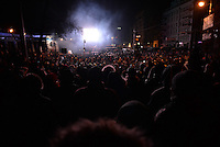 The crowd  gathers in the streets of Kiev at night to protest against new draconian law to ban protestsacross the country.  Kiev. Ukraine