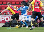 St Johnstone v Partick Thistle…11.02.17     Scottish Cup    McDiarmid Park<br />Danny Swanson is tackled by Liam Lindsay<br />Picture by Graeme Hart.<br />Copyright Perthshire Picture Agency<br />Tel: 01738 623350  Mobile: 07990 594431