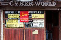 Nepal, Kathmandu.  Cyber Cafe.