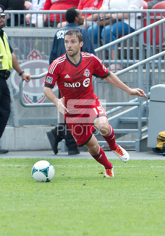 29 June 2013: Toronto FC midfielder Bobby Convey #15 in action during an MLS game between Real Salt Lake and Toronto FC at BMO Field in Toronto, Ontario Canada.<br /> Real Salt Lake won 1-0.