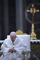 """Pope Francis """"feast of candles"""" during Holy Mass for the Solemnity of the presentation of Our Lord at St Peter's basilica at the Vatican. on Febraury 2, 2019"""