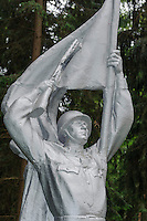 Rotarmist im Ausstellungsgelände Grutas-Park, Litauen, Europa