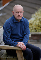 Pictured: Ian McPhee, the husband of Diane McPhee at their house in Tonna, Neath, Wales, UK.<br />