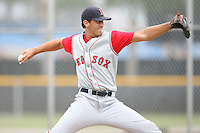 August 14, 2008: Michael Lennox (23) of the GCL Red Sox. Photo by: Chris Proctor/Four Seam Images