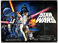 BNPS.co.uk (01202) 558833. <br /> Pic: Ewbank'sAuctions/BNPS<br /> <br /> Pictured: This Star Wars poster sold for £4,750. <br /> <br /> A selection of classic horror and sci-fi film posters have sold for £85,000.<br /> <br /> The marquee lot was a British quad 30ins by 40ins poster for Forbidden Planet which fetched £12,000, three times its estimate.<br /> <br /> It features the memorable first image of Robby the Robot holding a damsel in distress.<br /> <br /> A poster promoting the Christopher Lee film Dr Terror's House of Horrors (1965) also outperformed expectations, selling for £2,750, while one advertising the first Star Wars film (1977) fetched £4,750.<br /> <br /> The posters, which were consigned by different collectors, sparked a bidding war with Ewbank's Auctions, of Woking, Surrey.