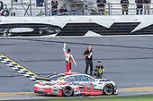 #20: Erik Jones, Joe Gibbs Racing, Toyota Camry Sports Clips celebrates his victory
