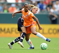 Los Angeles Sol's Lyndsey Patterson can't stop Sky Blue FC Rosana from making trhe ball up field. Sky Blue FC won 1-0 over the Sol at the Home Depot Center on Saturday, Aug. 22. 2009, in Carson, California. .
