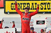#20: Christopher Bell, Joe Gibbs Racing, Toyota Camry Ruud celebrates in victory lane
