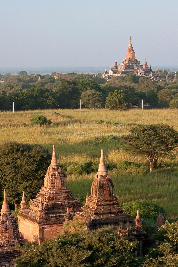 Myanmar, Burma, Bagan.  Temples.