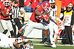 December 30, 2016: Georgia Bulldog running back Nick Chubb (27) scoring a touchdown in the third quarter of the Autozone Liberty Bowl at Liberty Bowl Memorial Stadium in Memphis, Tennessee. ©Justin Manning/Eclipse Sportswire/Cal Sport Media