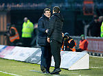 St Mirren v St Johnstone…26.12.18…   St Mirren Park    SPFL<br />Tommy Wright shakes hands with Oran Kearney at full time<br />Picture by Graeme Hart. <br />Copyright Perthshire Picture Agency<br />Tel: 01738 623350  Mobile: 07990 594431