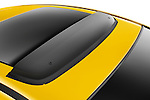 Closeup deatil of the sunroof deflector on a 2009 Mitsubishi Eclipse GT Coupe