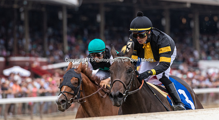 7/17/2021: Baby Yoda #3, ridden by Jose L. Ortiz, wins race 2 (starter allowance) on Diana Day at Saratoga Race Course in Saratoga Springs, New York on July 17, 2021. Rob Simmons/Eclipse Sportswire/CSM