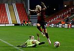 Alex Greenwood of Manchester United Women and Jade Pennock of Sheffield Utd Women