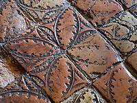 Keramik-Fußboden, Kloster zum heiligen Georg, Stein am Rhein, Kanton Schaffhausen, Schweiz<br /> floor tiles, Saint George's Abbey in Stein am Rhein, Canton Schaffhausen, Switzerland