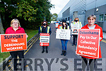 Former Debenhams workers protesting on Friday.