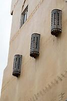 "Fes, Morocco.  ""Harem Windows"" on a House in the Medina."