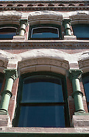 Kansas City:  River Quay area.  Upper stories--masonry & cast iron.
