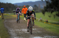 Niamh Black competes in the Elite Women's race of the 2016 Huttcross cyclocross national championships at Moonshine Park, Upper Hutt, Wellington, New Zealand on Saturday, 6 August 2016. Photo: Dave Lintott / lintottphoto.co.nz