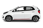 Car Driver side profile view of a 2020 KIA Picanto GT-Line 5 Door Hatchback Side View