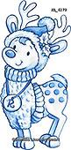 Interlitho-Theresa, CHRISTMAS ANIMALS, WEIHNACHTEN TIERE, NAVIDAD ANIMALES, paintings+++++,reindeer,KL6179,#xa#