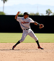 Ehire Adrianza / San Francisco Giants 2008 Instructional League..Photo by:  Bill Mitchell/Four Seam Images