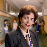 Female school principal.