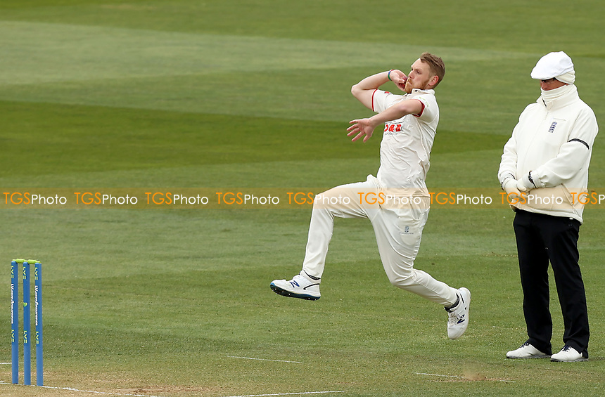 Jamie Porter of Essex in bowling action during Essex CCC vs Worcestershire CCC, LV Insurance County Championship Group 1 Cricket at The Cloudfm County Ground on 10th April 2021