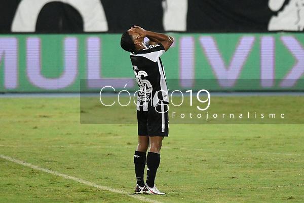 Rio de Janeiro (RJ), 13/03/2021 - Bangu-Botafogo  - Enio jogador do Botafogo,durante partida contra o Bangu,válida pela 3ª rodada da Taça Guanabara,realizada no Estádio Nilton Santos (Engenhão), na zona norte do Rio de Janeiro,neste sábado (13).
