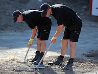 FAO JANET TOMLINSON, DAILY MAIL PICTURE DESK<br /> Pictured: Special forensics police officers search a field in Kos, Greece. Saturday 01 October 2016<br /> Re: Police teams led by South Yorkshire Police, searching for missing toddler Ben Needham on the Greek island of Kos have moved to a new area in the field they are searching.<br /> Ben, from Sheffield, was 21 months old when he disappeared on 24 July 1991 during a family holiday.<br /> Digging has begun at a new site after a fresh line of inquiry suggested he could have been crushed by a digger.