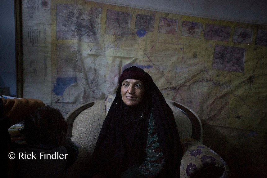 """KURDISTAN, NORTHERN IRAQ, Dokuk.<br /> Qalubna Ma'Kum Feature:<br /> Qalubna Ma'kum (meaning """"Our hearts are With You"""") are a group of foreign volunteer fighters who have joined up with the Peshmerga in Kurdistan to help with the battle against Daesh, also known as ISIS. <br /> <br /> Pictured: An elderly refugee waits to receive treatment on the base."""
