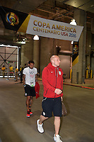 Houston, TX - Tuesday June 21, 2016: Brad Guzan, United States arriving prior to a Copa America Centenario semifinal match between United States (USA) and Argentina (ARG) at NRG Stadium.