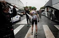 Sarah Roy's (AUS/BikeExchange) post-race wash<br /> <br /> Inaugural Paris-Roubaix Femmes 2021 (1.WWT)<br /> One day race from Denain to Roubaix (FRA)(116.4km)<br /> <br /> ©kramon