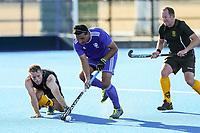 Auckland v Wellington M40. 2020 National Masters Hockey Tournament at Nga Puna Wai Sports Hub in Christchurch, New Zealand on Sunday, 23 February 2020. Photo: Simon Watts / bwmedia.co.nz