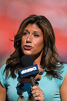 MSG reporter Tina Cervasio. The New York Red Bulls defeated Toronto FC 2-0 during a Major League Soccer match at Giants Stadium in East Rutherford, NJ, on August 17, 2008.