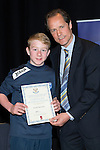 St Johnstone FC Youth Academy Presentation Night at Perth Concert Hall..21.04.14<br /> Alec Cleland presents to David McCrory<br /> Picture by Graeme Hart.<br /> Copyright Perthshire Picture Agency<br /> Tel: 01738 623350  Mobile: 07990 594431