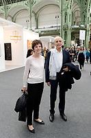 Nicole AVRIL, Jean-Pierre ELKABBACH - VERNISSAGE FIAC PARIS 18/10/2017 - FRANCE