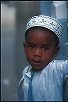 Mohammed, a three-year-old Muslim boy. Stone Town, Zanzibar, Tanzania.